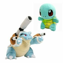 Pokemon Squirtle & Mega Blastoise Plush Toy Stuffed Animals