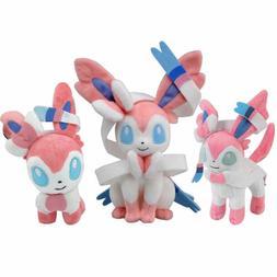 Pokemon Sylveon  Plush Doll Stuffed Animal Soft Figure Kids