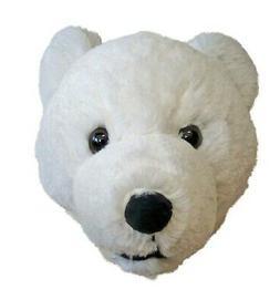 7-inch Polar Bear Head Plush Wall Mounting Stuffed Animal To