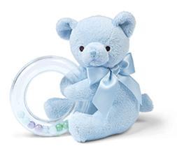 Bearington Baby Polky Blue Plush Stuffed Animal Teddy Bear S