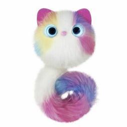 Pomsies Pom Pom Pet Sherbert Plush Interactive Toy White/Pin
