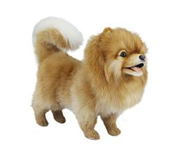 Hansa Pomeranian Dog Standing Plush Dog