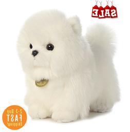 Pompom White Pomeranian Puppy Plush Toy Stuffed Animal Soft