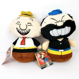 Popeye Classics Kellytoy Brutus and Wimpy 10 inch Stuffed An