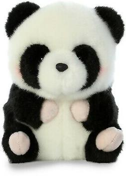 5 Inch Precious Panda Rolly Pet Plush Stuffed Animal by Auro