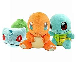 Prime Pokeworld Mega Bulbasaur Charmander Squirtle Plush Toy