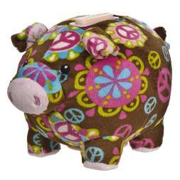 "Mary Meyer Print Pizzazz 6"" Piggy Bank Peace Design"