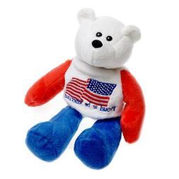 Proud to be American US Flag American Patriotic Plush Stuffe