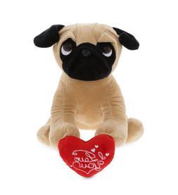 DolliBu Pug Dog I Love You Valentine Stuffed Animal with Hea