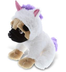DolliBu Pug Dog Unicorn Stuffed Animal Plush Toy Huggable Cu