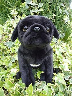 Faithful Friends Pug stuffed animal plush toy medium black