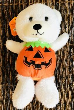 Hallmark Pumpkin Bear Light Up Stuffed Animal Plush