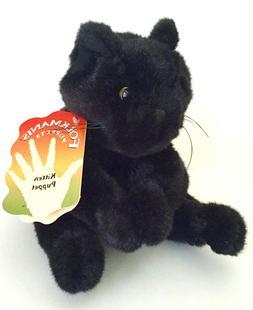 Folkmanis Puppets Kitten Black Cat Plush Hand Puppet Stuffed