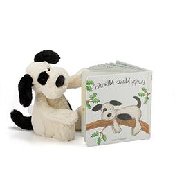 Jellycat Puppy Makes Mischief Board Book and Bashful Black a