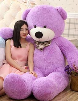 VERCART 4 Foot 47 inch Purple Giant Huge Cuddly Stuffed Anim