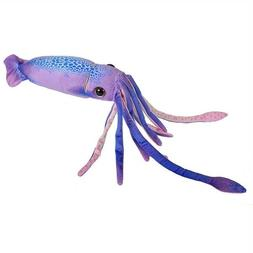 "Purple 29"" long Squid by Wild Republic toy stuffed animal pl"