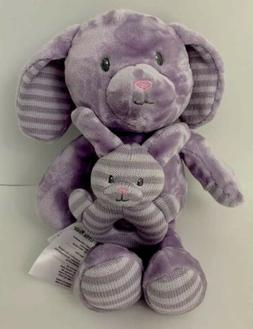 Little Miracles Purple bunny rabbit striped ears feet plush
