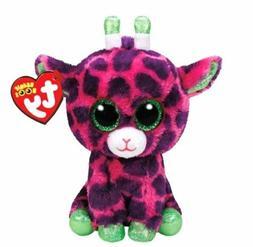 Purple Giraffe 6 Ty Beanie Boos Puppy Glitter Big Eyes Plush