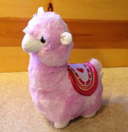 "Purple LLAMA PLUSH ALPACA 12"" Stuffed Animal Valentine's Day"