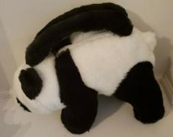 "Purs-Animals Panda Bear Plush Purse by Aurora 8"" Tall X 11"