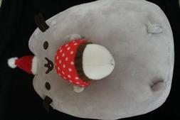 gund pusheen 9 inch cat plush with hot cocoa and santa hat