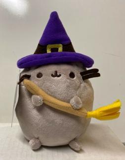 GUND Pusheen Witch Halloween Cat Plush Stuffed Animal, Gray,
