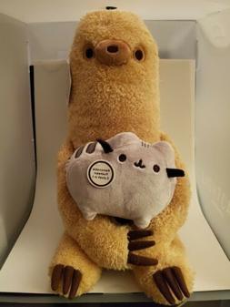 """GUND Pusheen with Sloth Plush Stuffed Animal Set of 2, 13"""""""