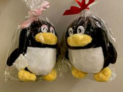 Tencent QQ Penguin Plush 2 Stuffed Animals toy Girl & Boy ne
