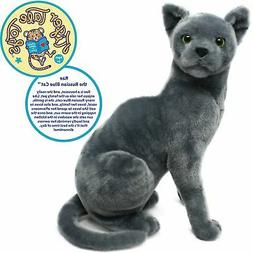 Rae the Russian Blue Cat | 12 Inch Stuffed Animal Plush | By