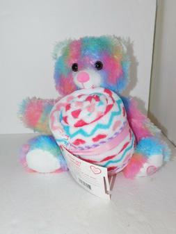 Rainbow Bear Plush Blanket Gift Set Stuffed Valentine Toy Co