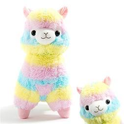 Alpacasso Rainbow Plush Alpaca Stuffed Toy, 16-Inch.