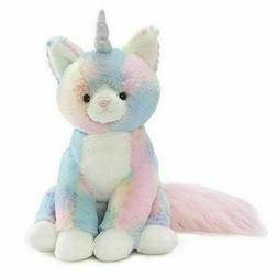 GUND Rainbow Shimmer Caticorn Cat Unocorn Large Plush Stuffe