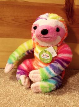 "RAINBOW SLOTH PLUSH Scented 9"" Stuffed Animal Cake Friends Z"