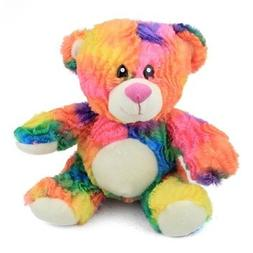 rainbow tie dye teddy bear