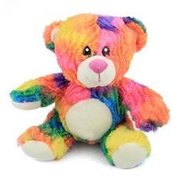 Rainbow Tie Dye Teddy Bear Plush Stuffed Animal Toy by Fiest