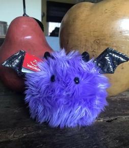 RARE AURORA Purple Halloween Bat Stuffed Animal Plush Brand