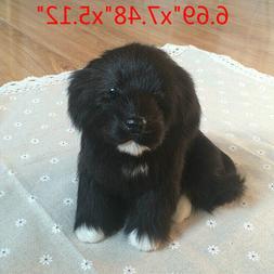 Realistic Black Dog Puppy Pet Plush, Simulation Stuffed Anim
