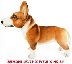realistic corgi dog pet plush kids