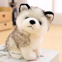 "Realistic Husky Dog Plush Toy Stuffed Animal Soft Wolf 7"""