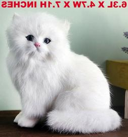Realistic Persian Cat Pet Plush, Kids And Children Stuffed A