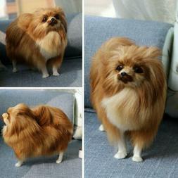 Realistic Pomeranian Simulation Toy Dog Puppy Lifelike Stuff