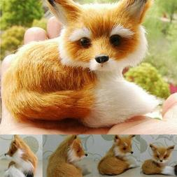 Realistic Stuffed Animal Soft Plush Kids Toy Sitting Fox Rey