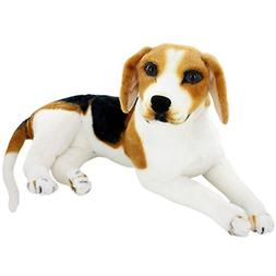 JESONN Realistic Stuffed Animals Beagle Dog Plush Toys 15.3