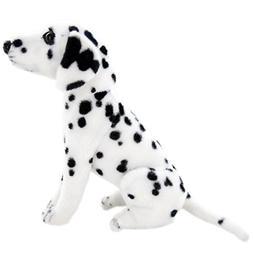 Jesonn Realistic Stuffed Animals Dog Plush Toys Sitting Dalm