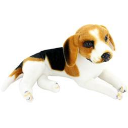 "JESONN Realistic Stuffed Animals Dog Beagle Plush Toys,12"" o"