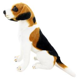Jesonn Realistic Stuffed Animals Sitting Beagle Plush Toy Do