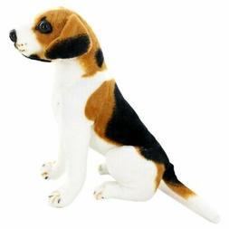 Jesonn Realistic Stuffed Animals Sitting Beagle Plush Toy Do