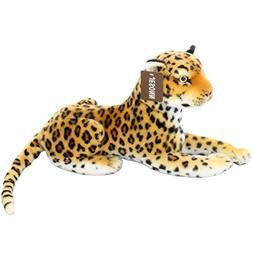 Jesonn Realistic Stuffed Animals Toy Spotted Leopard Plush f