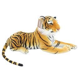JESONN Realistic Stuffed Animals Toys Tiger Plush,Brown,18.9