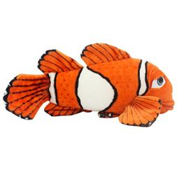 Jesonn Realistic Stuffed Clown Fish Toys Plush Marine Animal
